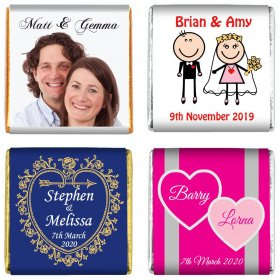 Personalised Wedding Neapolitan Chocolates, Party Favours