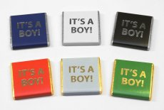 "Foil Printed ""It's a Boy"" 5g chocolate favours, Baby Shower"