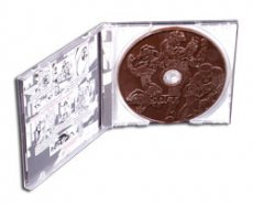 "Embossed ""chocolate CD"", Business personalised gift"