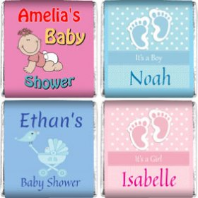 Personalised BABY SHOWER Neapolitan Chocolates, Favours