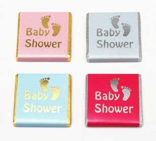 "Foil Printed ""Baby Shower"" chocolate favours, Girl, Boy"
