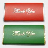 "Foil Printed ""Thank you"" chocolate Bar, 20 colours choice"