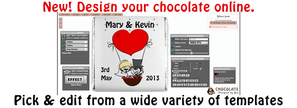 Design your chocolate online. Upload your pictures & more!