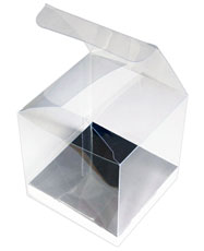 Clear Cube, Gift Box With Silver Base, 8 x 8 x 8 cm